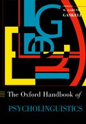 Cover for Oxford Handbook of Psycholinguistics