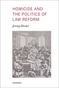 Cover for Homicide and the Politics of Law Reform
