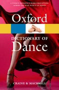 Cover for The Oxford Dictionary of Dance