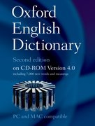 Cover for The Oxford English Dictionary Second Edition on CD-ROM Version 4.0