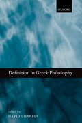 Cover for Definition in Greek Philosophy