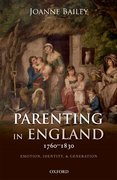 Cover for Parenting in England 1760-1830