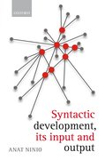 Cover for Syntactic development, its input and output