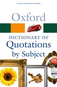 Cover for Oxford Dictionary of Quotations by Subject