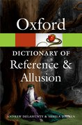 Cover for Oxford Dictionary of Reference and Allusion