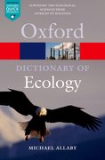 Cover for A Dictionary of Ecology