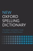 Cover for New Oxford Spelling Dictionary
