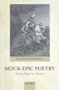 Cover for Mock-Epic Poetry from Pope to Heine