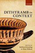 Cover for Dithyramb in Context