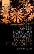 Cover for Greek Popular Religion in Greek Philosophy