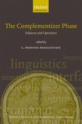 Cover for The Complementizer Phase