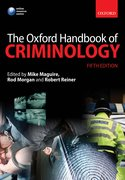 Cover for The Oxford Handbook of Criminology
