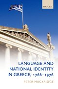 Cover for Language and National Identity in Greece, 1766-1976