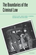 Cover for The Boundaries of the Criminal Law