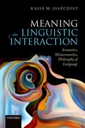 Cover for Meaning in Linguistic Interaction