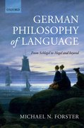 Cover for German Philosophy of Language