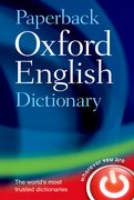Cover for Paperback Oxford English Dictionary