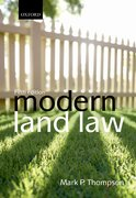 Cover for Modern Land Law