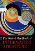 Cover for The Oxford Handbook of Information Structure - 9780199642670