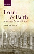 Cover for Form and Faith in Victorian Poetry and Religion