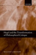 Cover for Hegel and the Transformation of Philosophical Critique