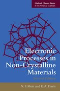 Cover for Electronic Processes in Non-Crystalline Materials