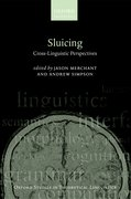 Cover for Sluicing: Cross-Linguistic Perspectives