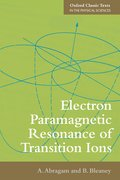 Cover for Electron Paramagnetic Resonance of Transition Ions