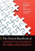 Cover for The Oxford Handbook of Conflict Management in Organizations