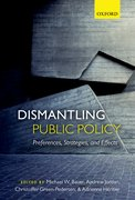 Cover for Dismantling Public Policy