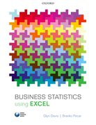 Cover for Business Statistics using Excel