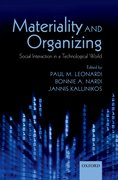 Cover for Materiality and Organizing