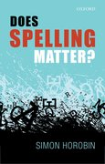 Cover for Does Spelling Matter?