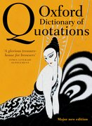 Cover for Oxford Dictionary of Quotations