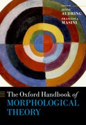 Cover for The Oxford Handbook of Morphological Theory