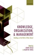 Cover for Knowledge, Organization, and Management