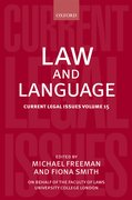 Cover for Law and Language