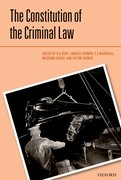 Cover for The Constitution of the Criminal Law