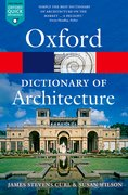 Cover for The Oxford Dictionary of Architecture