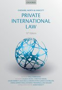 Cover for Cheshire, North & Fawcett: Private International Law