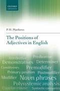 Cover for The Positions of Adjectives in English