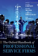 Cover for The Oxford Handbook of Professional Service Firms