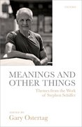 Cover for Meanings and Other Things