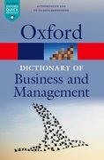 Cover for A Dictionary of Business and Management