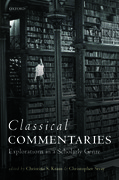 Cover for Classical Commentaries