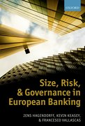 Cover for Size, Risk, and Governance in European Banking
