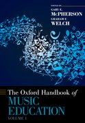 Cover for The Oxford Handbook of Music Education, Volume 1