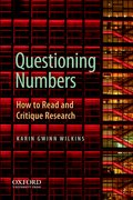 Cover for Questioning the Politics of Numbers