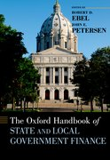 Cover for The Oxford Handbook of State and Local Government Finance