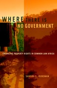 Cover for Where There is No Government